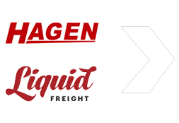 Hagen and Liquid Freight Text Logos
